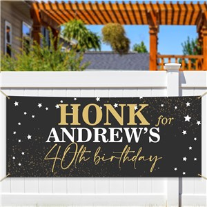 Personalized Gold Stars Banner