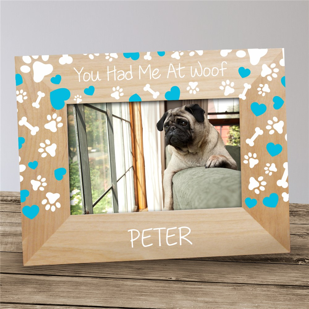 Personalized You Had Me At Woof Frame | Personalized Dog Frames