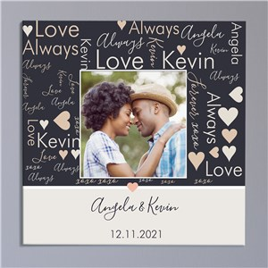 Couples Photo Word Art Canvas 91173314X