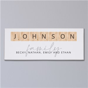 Personalized Word Tiles Canvas 91173629