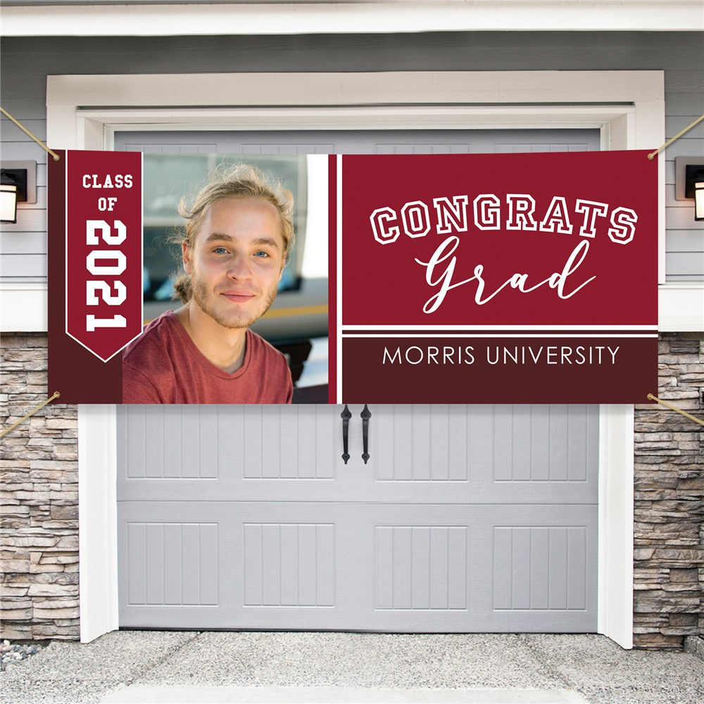 Personalized Congrats Graduation Garage Door Banner