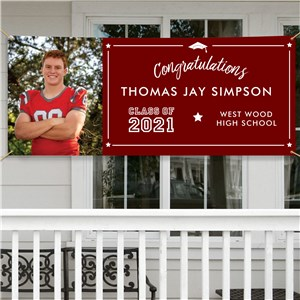 Personalized Congratulations Graduation Party Banner