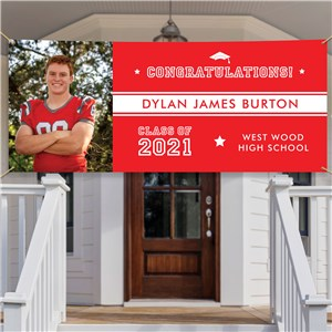 Personalized Congratulations with Stripe Banner