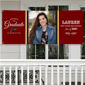 Personalized Congrats Graduate Banner