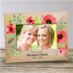 Personalized Floral Memorial Frame | Personalized Memorial Picture Frames