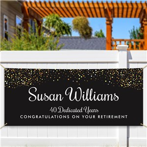 Personalized Black with Gold Glitter Banner 911776914