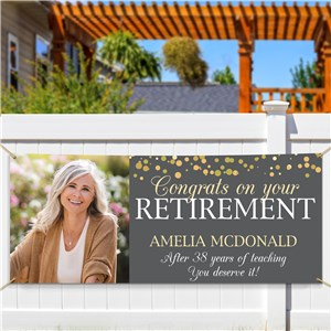 Personalized Congrats on Your Retirement with Photo Banner 911778314