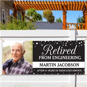 Personalized Retired Career with Photo Banner 911778414
