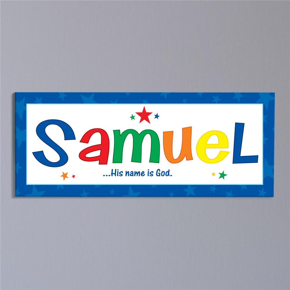 Name Meaning Wall Canvas