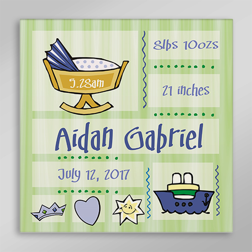 New Baby Wall Canvas | Personalized Baby Gifts