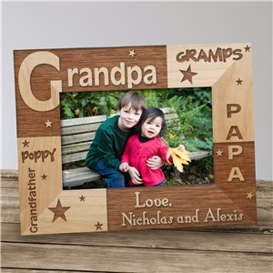 Personalized All About Grandpa Photo Frame | Personalized Grandpa Gifts