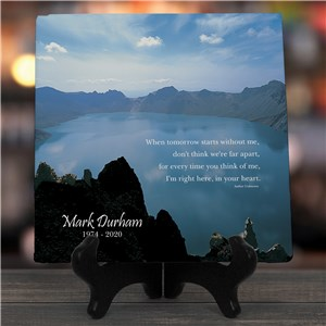 When Tomorrow Starts Without Me Personalized Memorial Photo Wall Canvas