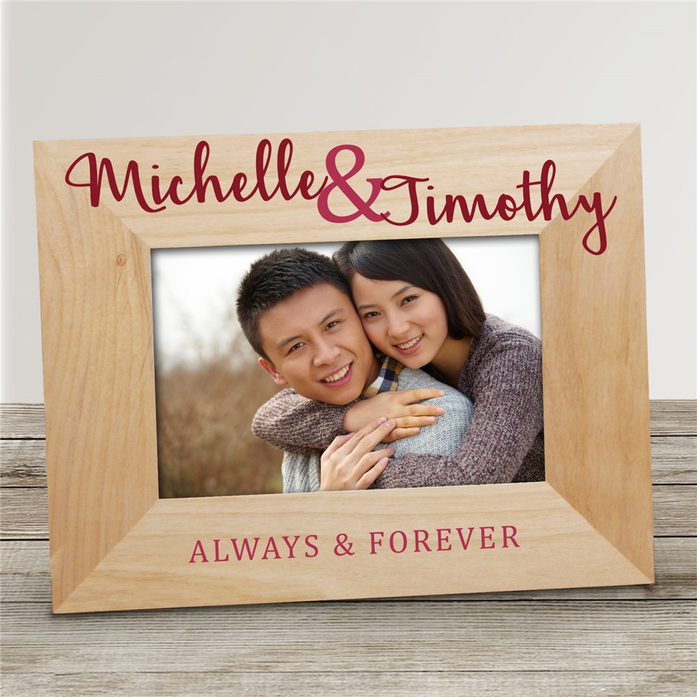 Personalized Always and Forever Wood Frame | Romantic Home