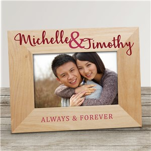 Personalized Always and Forever Wood Frame
