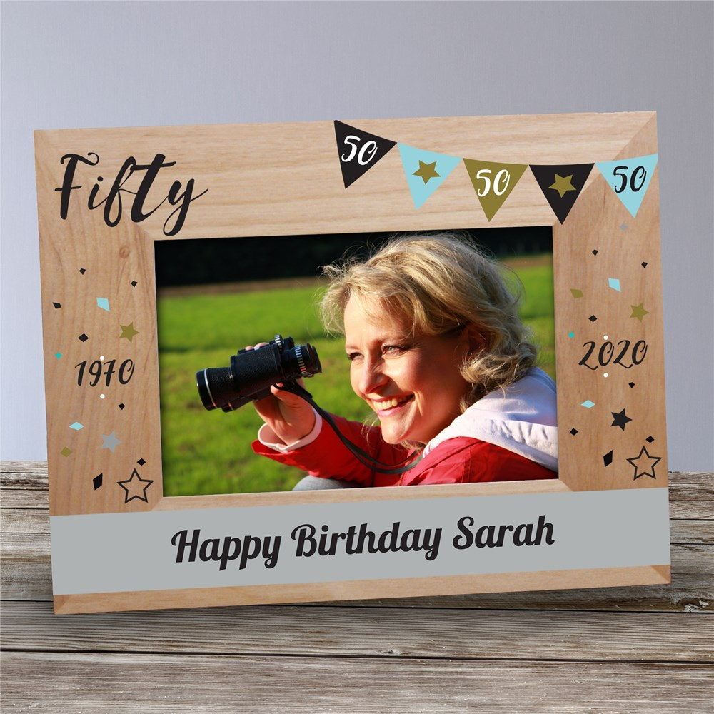 Personalized Happy Birthday Wood Frame | Personalized Happy Birthday Picture Frames