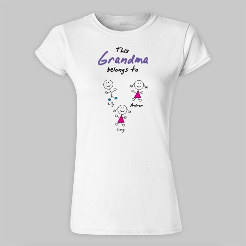 Belongs To... Personalized Ladies' Fitted T-Shirt | Personalized Grandma Shirt