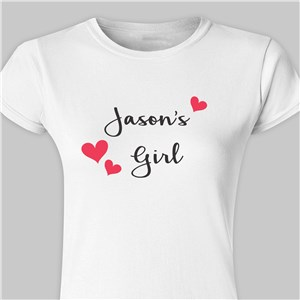 His Girl Personalized Ladies' Fitted T-shirt | Personalized Valentine's Day Gifts For Her