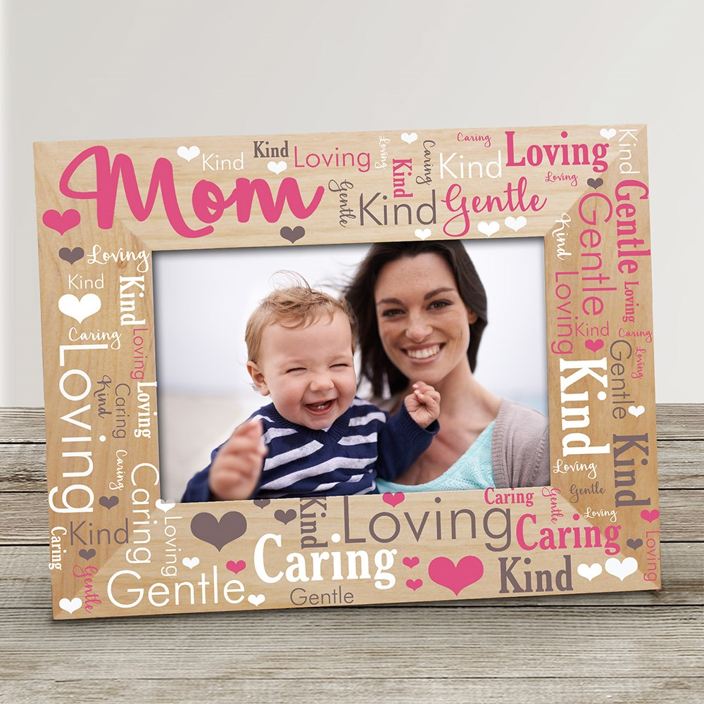 Mom Word-Art Wood Frame | Personalized Mother's Day Picture Frames