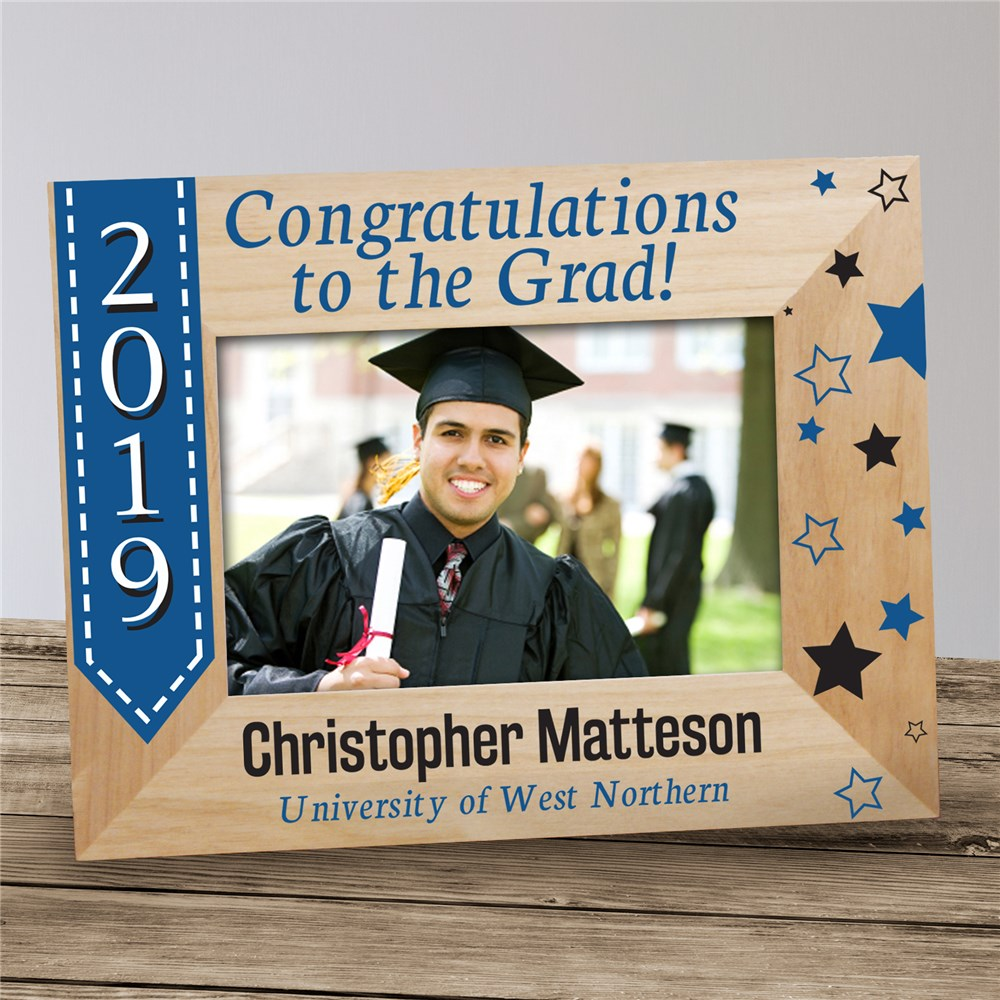 Congratulations to the Grad Personalized Picture Frame | 2018 Graduation Frames