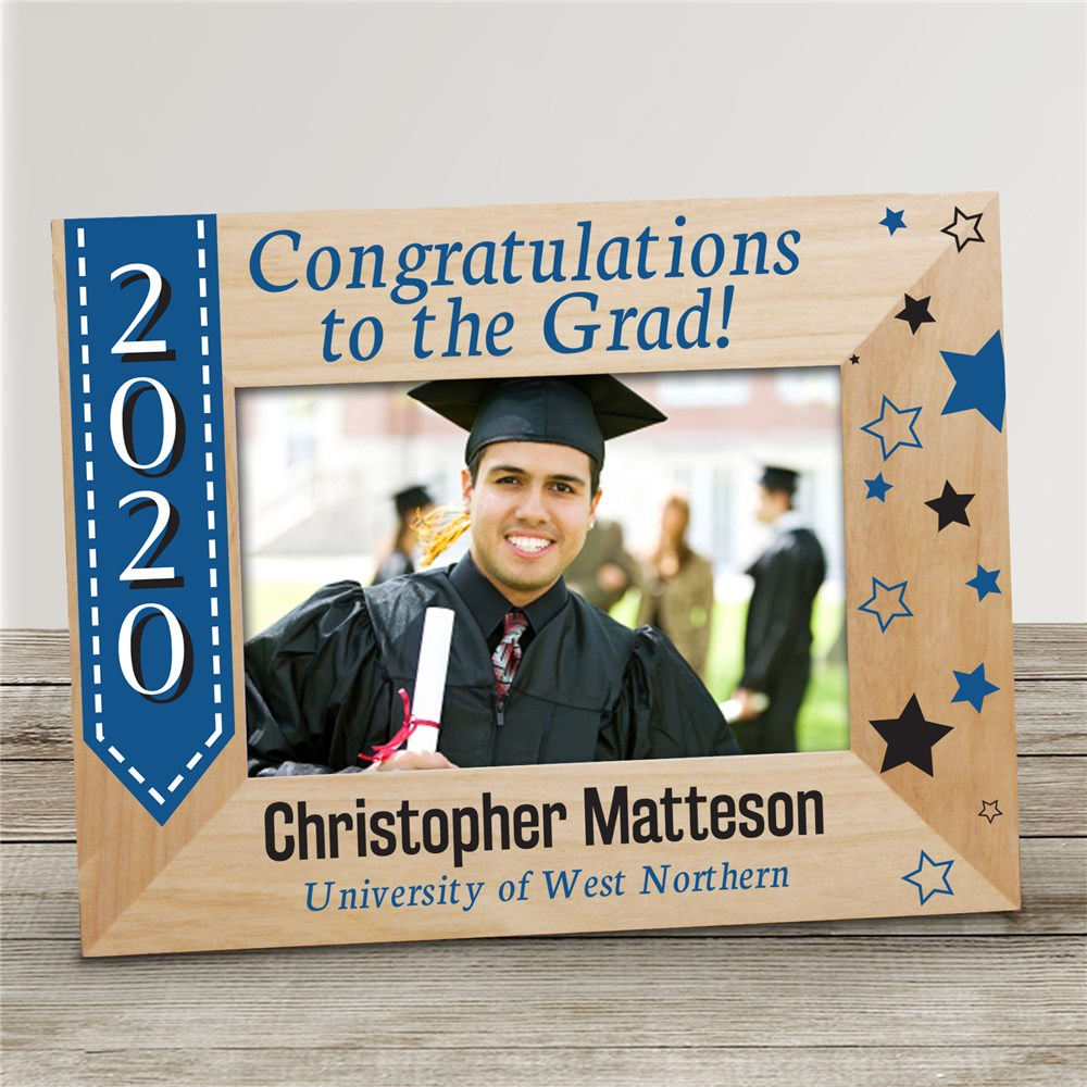 Congratulations to the Grad Personalized Picture Frame | 2019 Graduation Frames