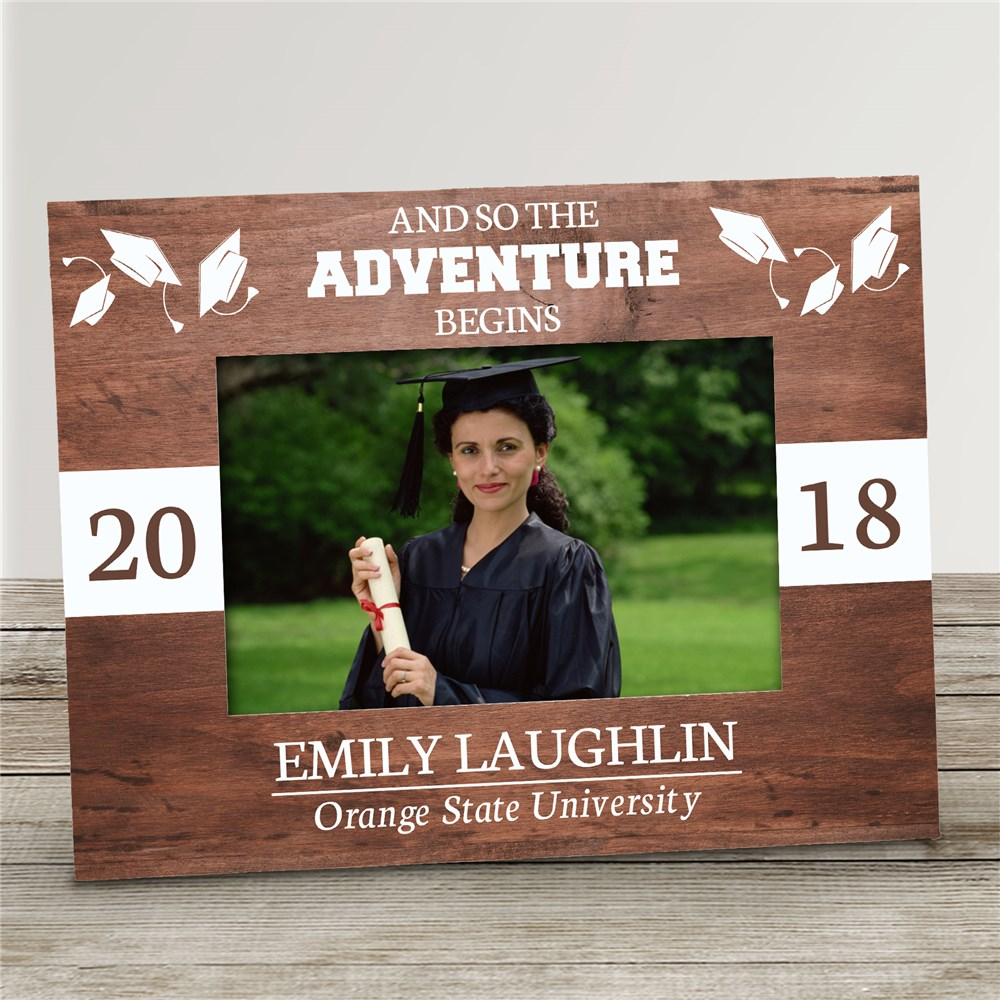 And So The Adventure Begins Personalized Picture Frame | Personalized Graduation Frames