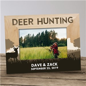 Personalized Deer Hunting Wood Picture Frame | Hunting Picture Frames