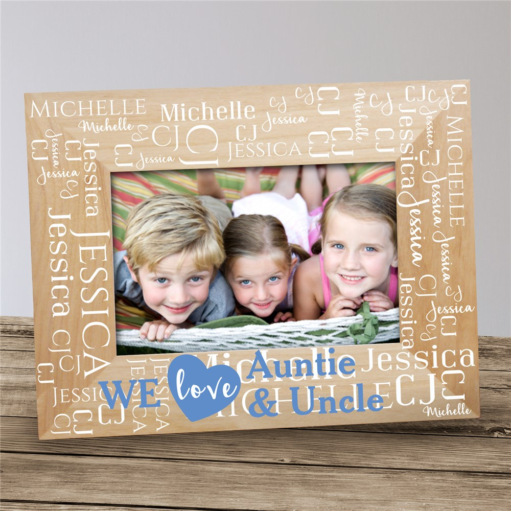 Personalized We Love Word-Art Wood Frame | Personalized Frame for Grandparents