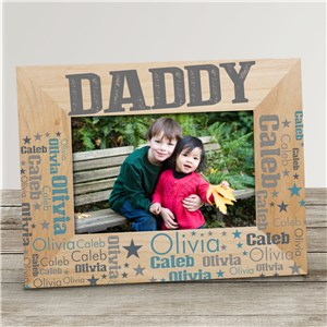 Personalized Dad Word-Art Wood Frame