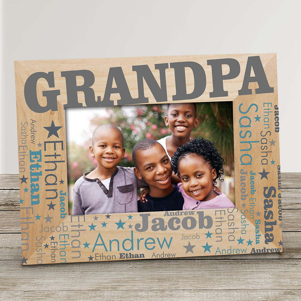 Personalized Dad Word-Art Wood Frame | Personalized Frames for Dad