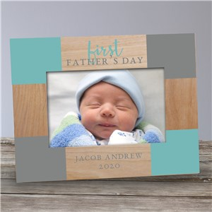 Personalized 1st Fathers Day Picture Frame | Personalized Father's Day Picture Frames