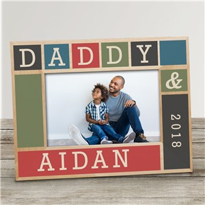 Personalized Daddy Wood Frame | Personalized Father's Day Frames