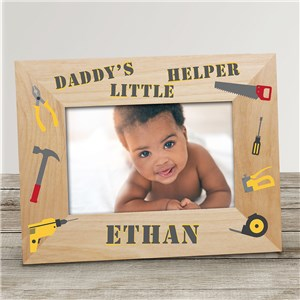 Engraved Little Helper Photo Frame | Personalized Father's Day Picture Frames
