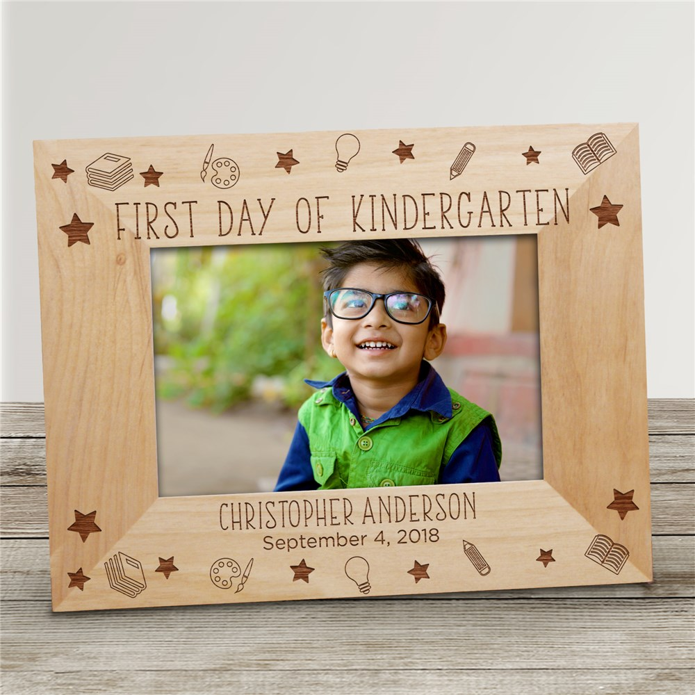 Personalized First Day of School Picture Frame | Back To School Personalized Picture Frame
