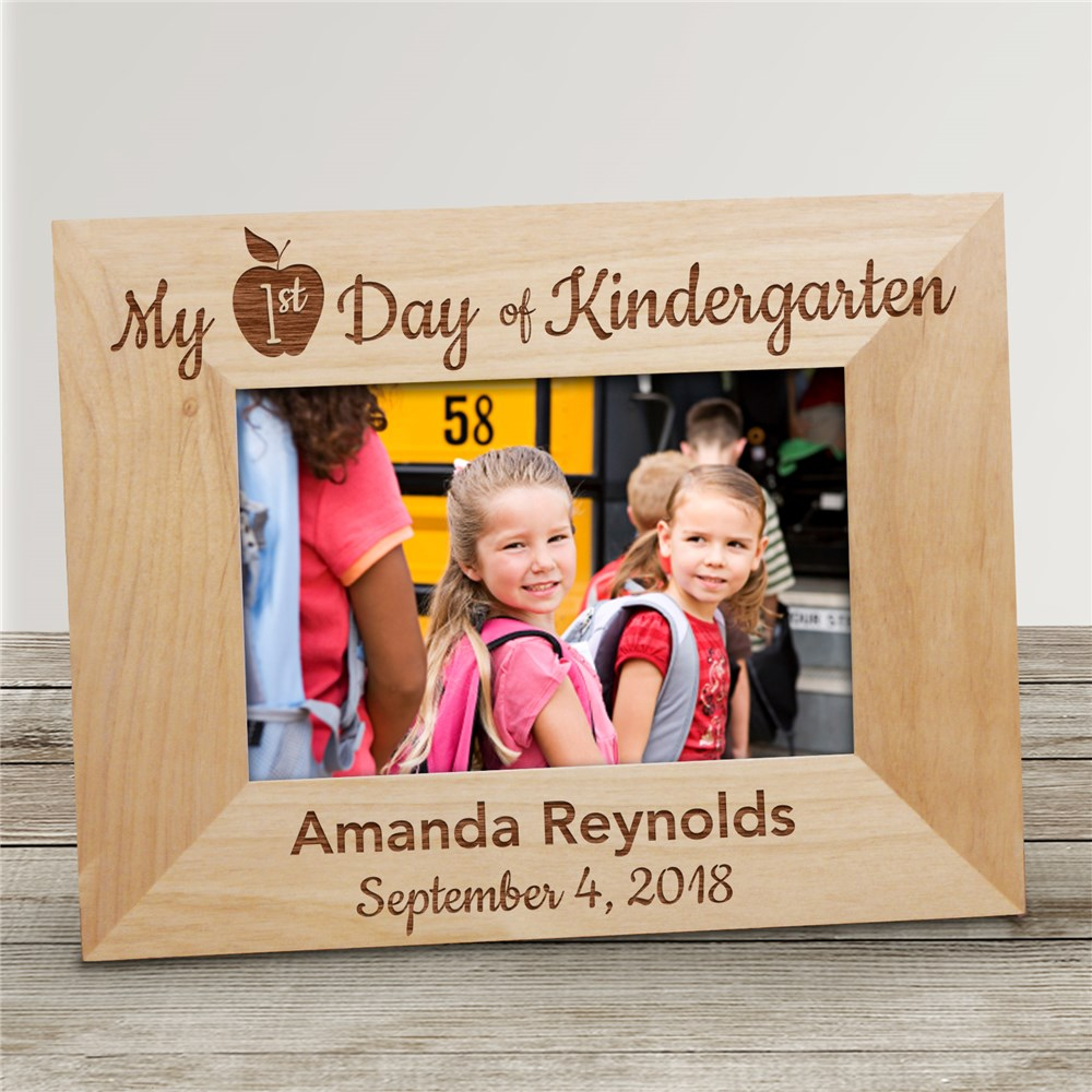 Personalized My First Day of School Wood Frame | Personalized First Day Of School Frame