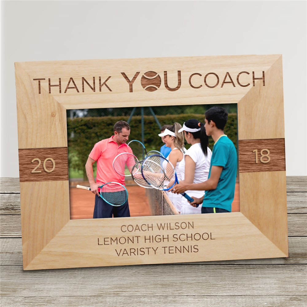 Personalized Thank You Coach Picture Frame | Personalized Coach Gifts