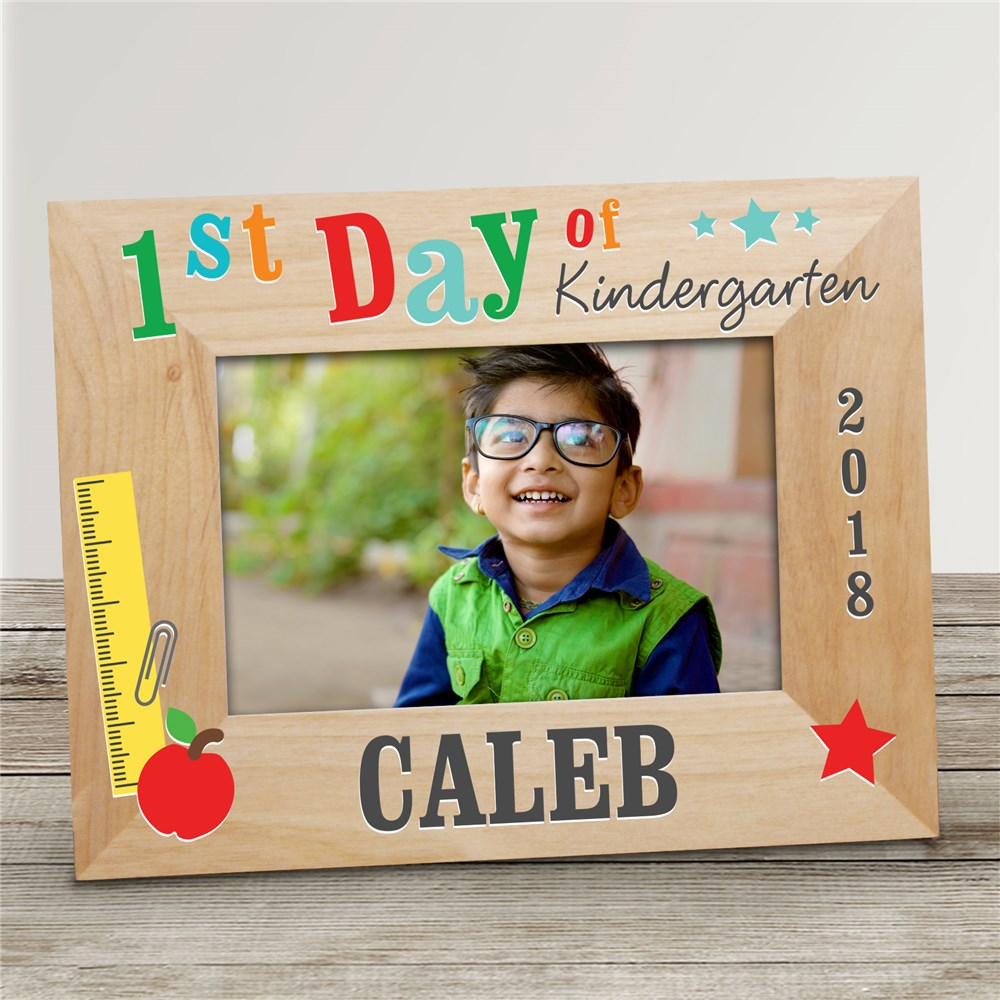 Personalized 1st Day of School Wood Frame | First Day Of School Personalized Picture Frame