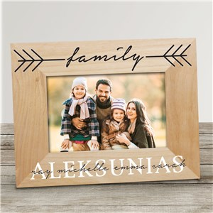 Personalized Family Name Wood Picture Frame 9131891