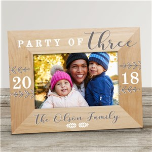 Personalized Party of Family Wood Frame 9131901