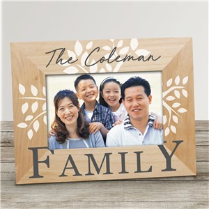 Personalized Family Tree Wood Picture Frame | Personalized Family Photo Frames
