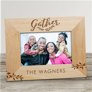 Engraved Gather Here Wood Frame | Personalized Picture Frames