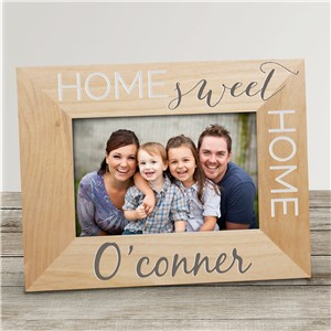 Home Sweet Home Personalized Wooden Frame | Personalized Picture Frames