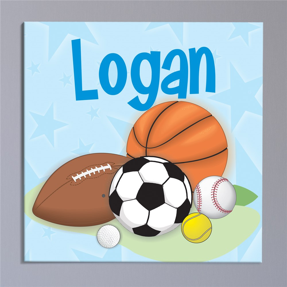 Custom Printed Sports Fan Wall Canvas | Personalized Art For Kids Room