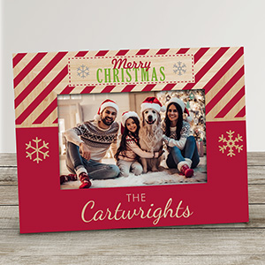 Personalized Merry Christmas Picture Frame | Personalized Christmas Frames