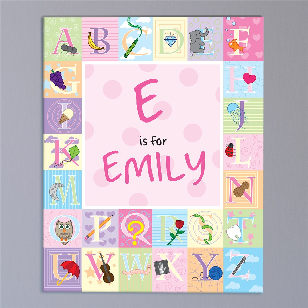 Personalized Alphabet Wall Canvas | Personalized Name Art