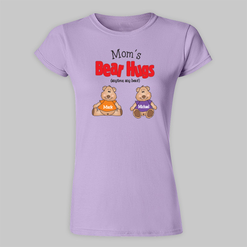 Bear Hugs Personalized Ladies Fitted T-Shirt 91404X