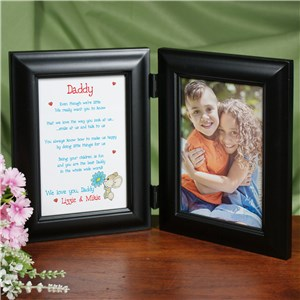 I Love You, Daddy Black Bi-Fold Personalized Picture Frame | Personalized Gifts