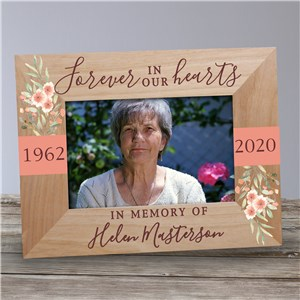 Floral Memorial Frame | Forever In Our Hearts Frame