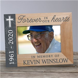 Personalized Memorial Picture Frames | Cross Memorial Picture Frame