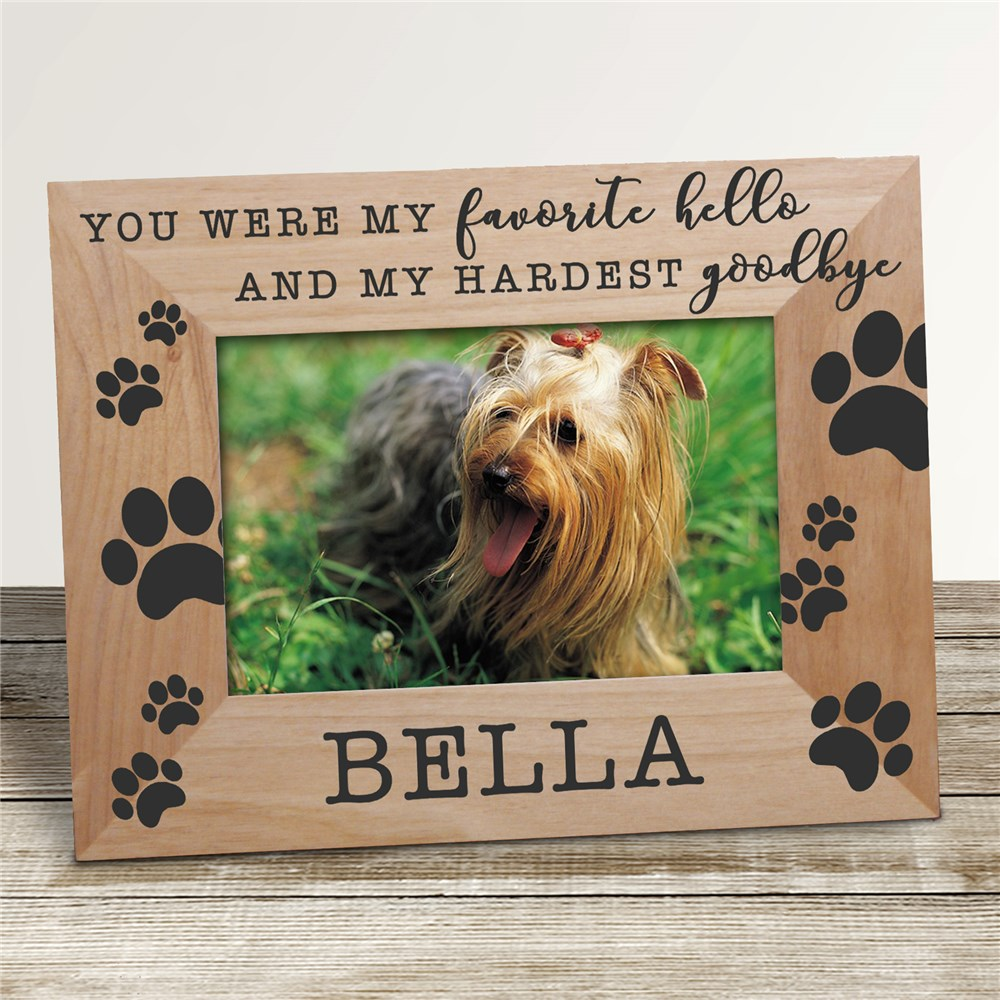 Wood Memorial Pet Frames | Pet Memorial Photo Frame With Name