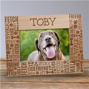 Personalized Pet Picture Frames | Engraved Pet Frames With Name